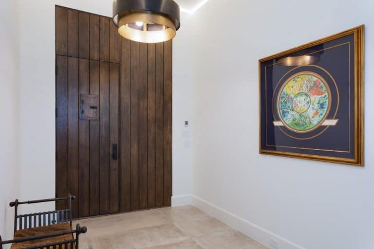 wooden door with painting